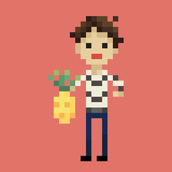 Man with Pineapple by TauWhitman