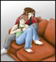 Snugglies on the Couch by tcat