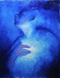 Astral projection in blue by RembrandtReload