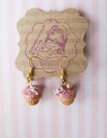 Cupcake Earrings by colourful-blossom