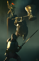 Ornstein and Smough by Phobos-Romulus