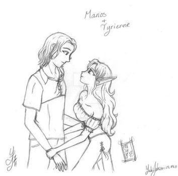 Manos and Tyrienne by Yukiko-chan
