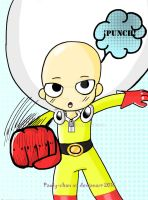 Saitama punch!!(one punch man) by Pauly-chan