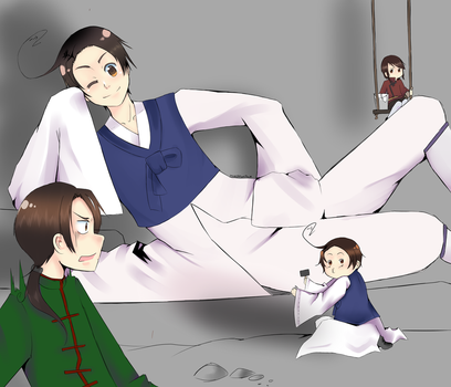 Hetalia: What are you doing? by MyungHeeLovesPho