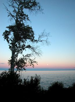 Moonrise over Superior by salias