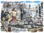 DDO chars watercolor by EMSTURIAO