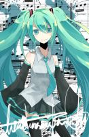 Vocaloid- Hatsune Miku by lizardsinrainforest