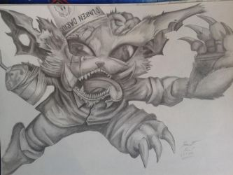 Gnar drawing by Glaurich
