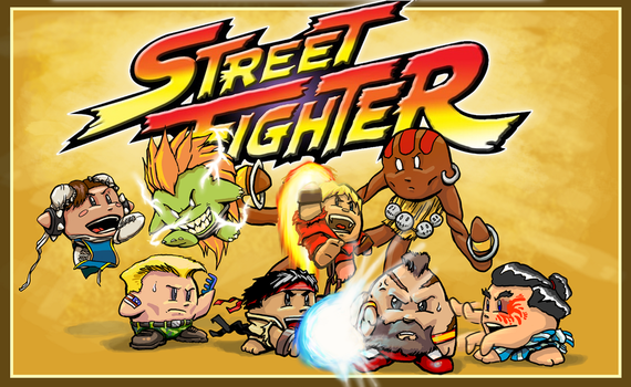 Street Fighter Chibi by soulrailer