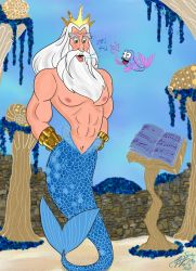 Disney's King Triton's voice lesson by E-Ocasio