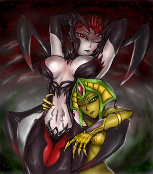Elise and Cassiopeia : Who's the freak now ? by Lel0uch