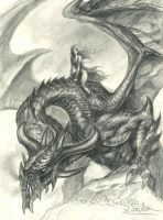 Daenerys-and-Drogon by sebastien-grenier