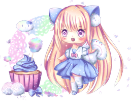 Coconut Cotton Candy Cupcake | Speedpaint by Milavana