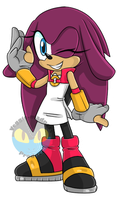 Sonic X Mighty Fan Child .:Female:. by VeggieMadness