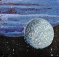 Gas giant and its cool companion by Drangir
