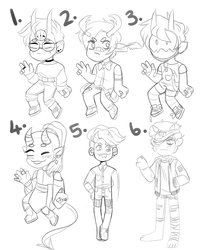 trashed designs 1-6 [OPEN 2/6] ($2.50) by bopperinie