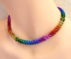 Thin Rainbow Necklace by Divulged