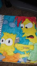 Bart Being Sledgehammered by Bob by RozStaw57