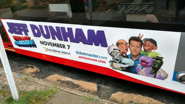 Jeff Dunham Bus Ad by OtakuDude83