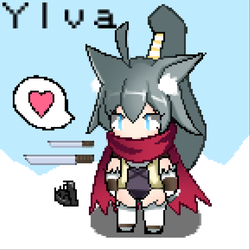 Pixel art try 1 : Ylva by amini101