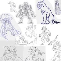 Kaiju: Monsters sketching 3 by Cyprus-1