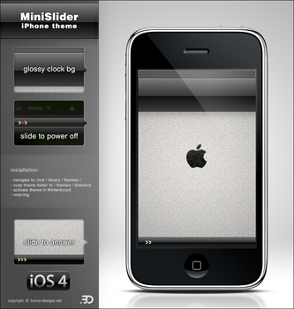 MiniSlider Black iPhone theme by Benjamin-Dandic