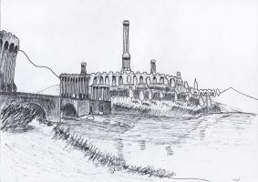 Near the Imperial City Bridge (Sketch) by iamjcat