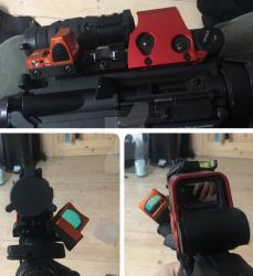 Combi test Eotech XPS flip magnifier and Trijicon by ModernMercenary
