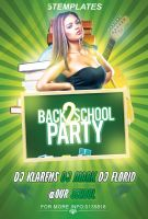 Back To School Party Flyer Free PSD Template by KlarensM
