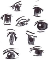 Manga and Anime Eyes by xxpunkgurlxx