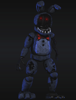 Withered Bonnie V3 Full body [Blender FNaF] by TRAWERT