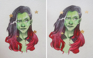 GAMORA by Psycho-o-Aciid