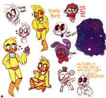 five nights at wow toy chica is cool by scarlayy