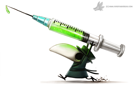 Daily Paint #1007. Plague Doctor by Cryptid-Creations