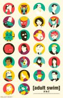 Adult Swim A to Z poster by billpyle