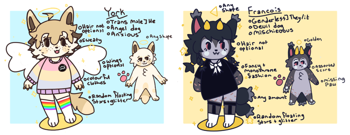 york and francois references by beckpup