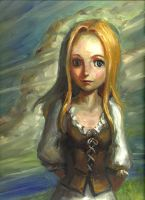 Sonia: An Oil Study by vee209