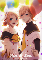 -Kagamine 10th Anniversary~ by HoKeki
