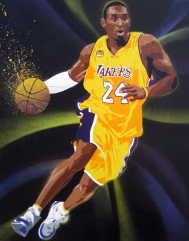 Kobe Bryant Painting by Gcrackle1