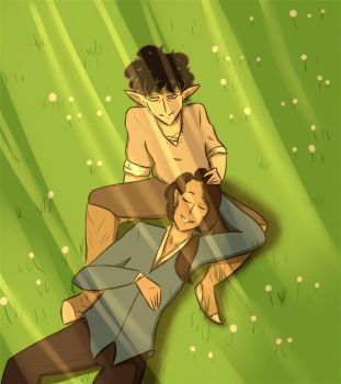 Cedric and Elwyn by Queen-Noobs