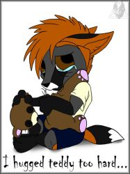 I Hugged Teddy Too Hard... by CausticKreature