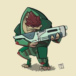 Warm-Up - Krogan by TroyMantz