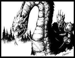 The Nazgul and his Mount by mbielaczyc