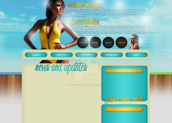 Jessica Alba layout 2 by VelvetHorse