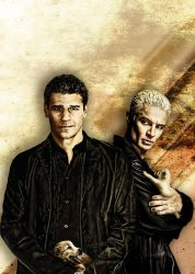Angel and Spike... um... character study. by restfield