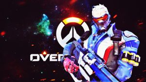 [Overwatch] Soldier: 76 (Wallpaper) by PopokuPinguPop90