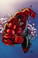 Red Hulk by firepunk626