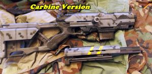 Nerf Longstrike as Carbine or sniper rifle by geekhousecreations