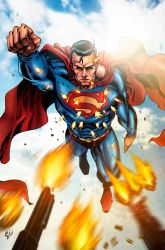 Superman Colored by RudyVasquez