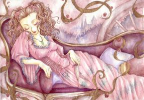 sleeping beauty in dream by jurithedreamer